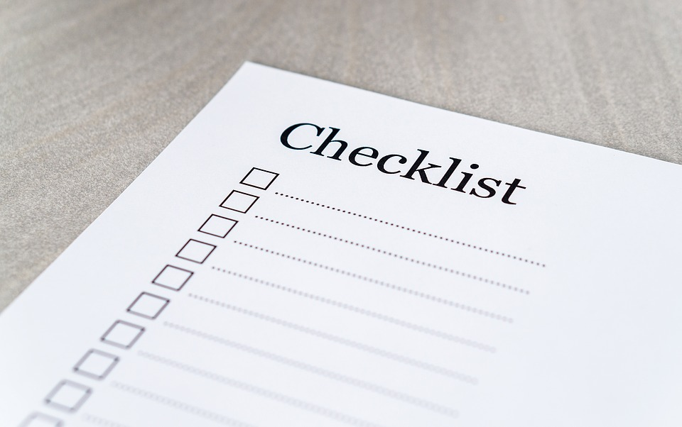 checklist for starting a blog